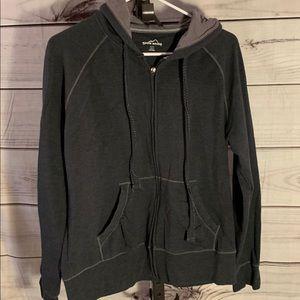 Eddie Bauer EUC women's zip hoodie gray